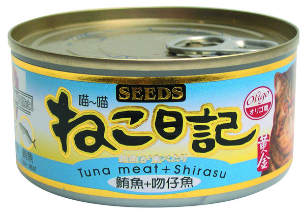 4719865821601喵喵日記-鮪魚+吻仔魚170g-罐(48/箱)