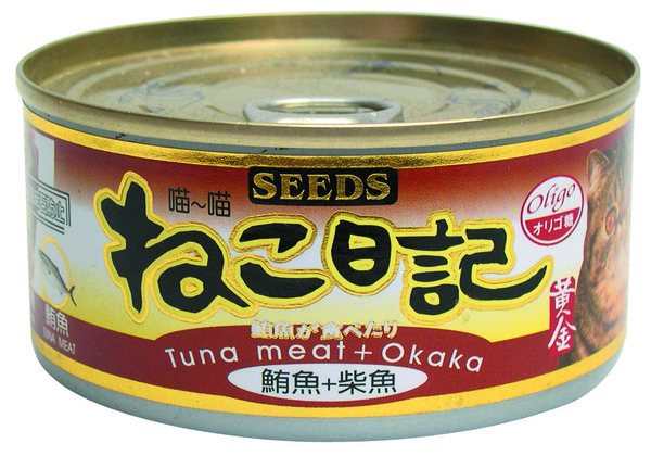 4719865821618喵喵日記-鮪魚+柴魚170g-罐(48/箱)