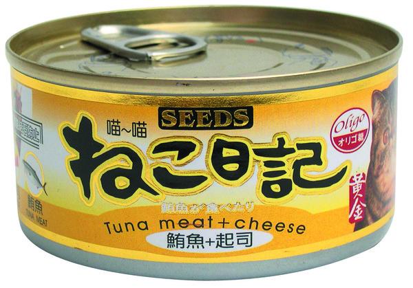 4719865821533喵喵日記-鮪魚+起司170g-罐(48/箱)