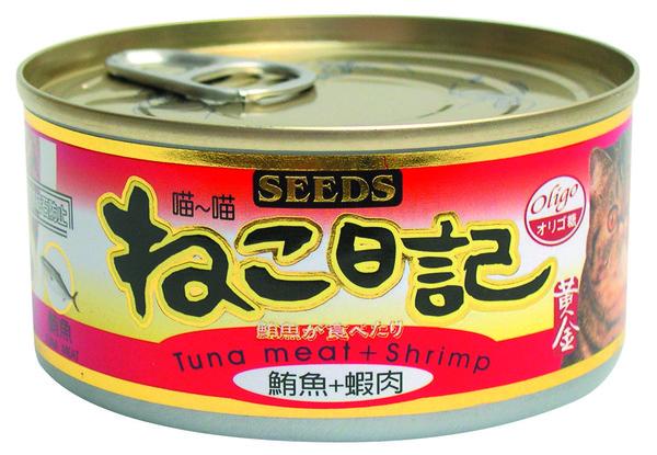 4719865821557喵喵日記-鮪魚+蝦肉170g-罐(48/箱)