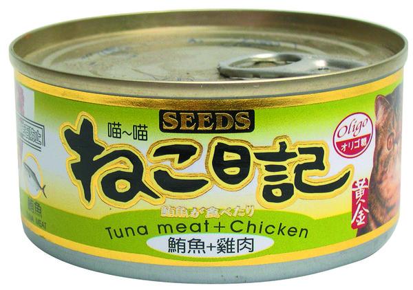 4719865821588喵喵日記-鮪魚+雞肉170g-罐(48/箱)