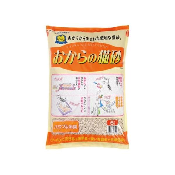 【日本OKARA】超級環保豆腐砂6L(原味/綠色減臭)