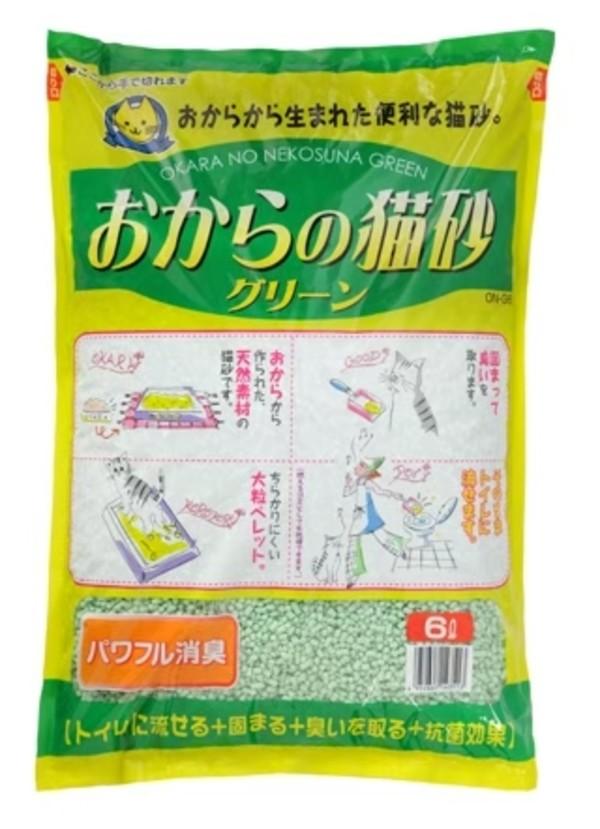 4952667143513超級環保綠色消臭豆腐砂6L