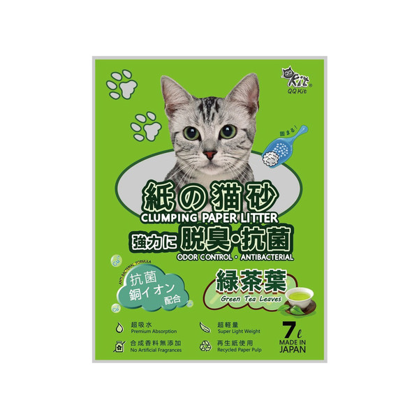 日本凝結紙貓砂-綠茶7L 4710701799993