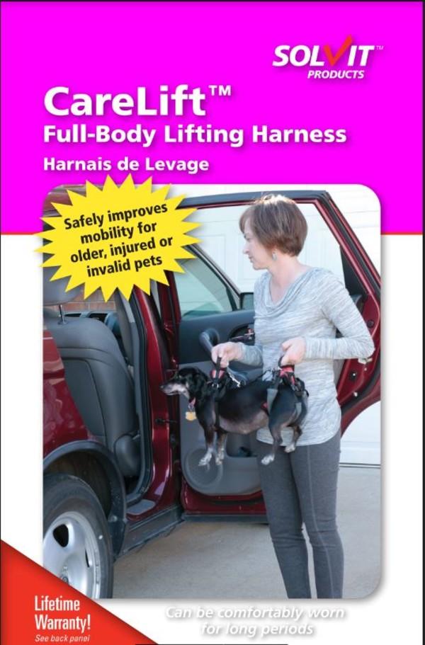 【SOLVIT介護系列】寵物前後肢雙用輔助提拉助行帶-紅色(適用3-16kg的狗)