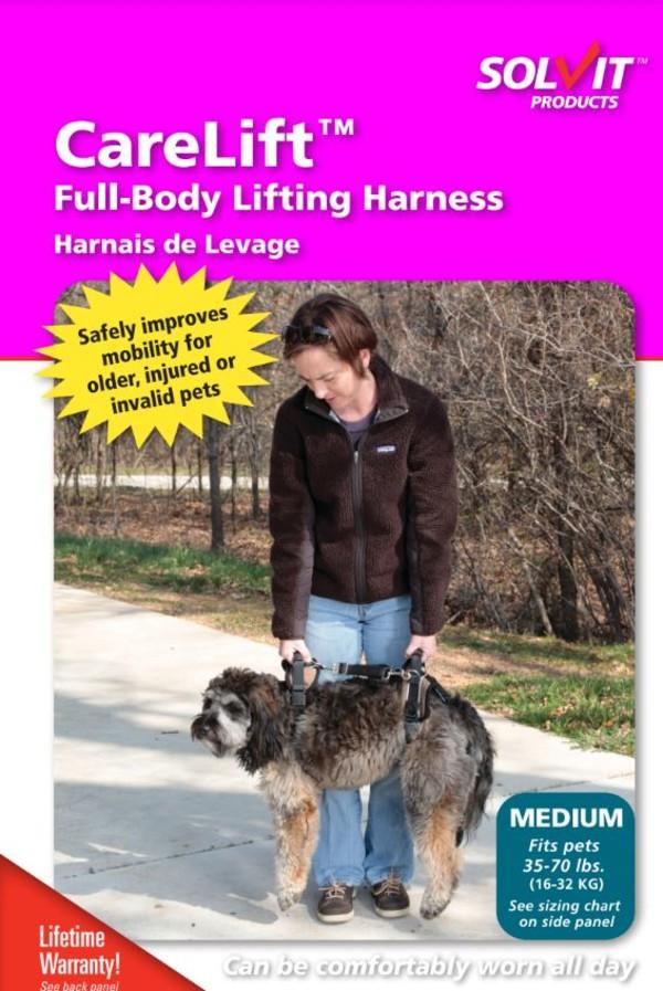 【SOLVIT介護系列】寵物前後肢雙用輔助提拉助行帶M號-金色(適用16-32kg的狗)