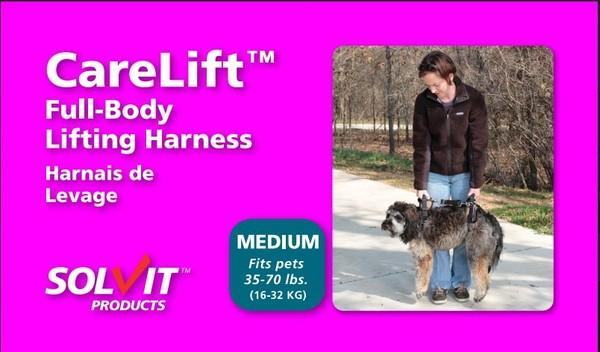 891293000835 Solvit 寵物前後肢雙用輔助提拉助行帶M號-金色(適用16-32kg的狗)