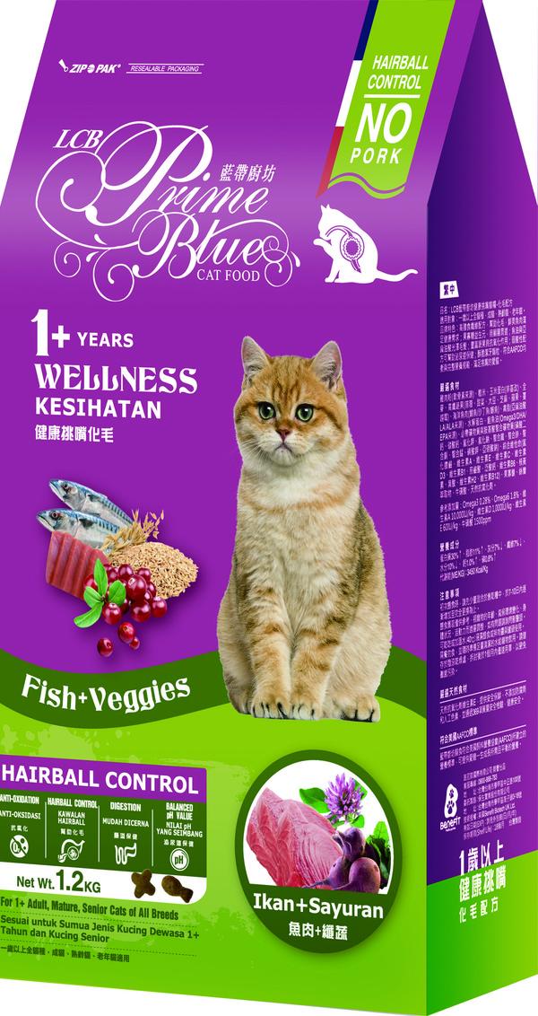 藍帶廚坊(貓)健康挑嘴貓化毛1.2kg 4712013804921