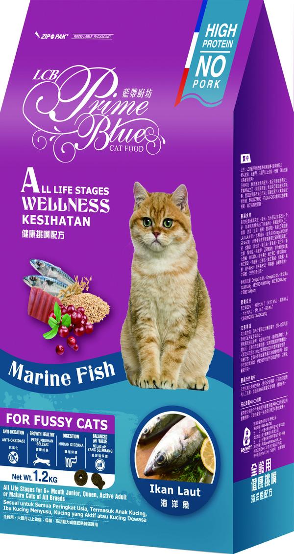 藍帶廚坊(貓)健康挑嘴貓海洋魚肉1.2kg 4712013804976