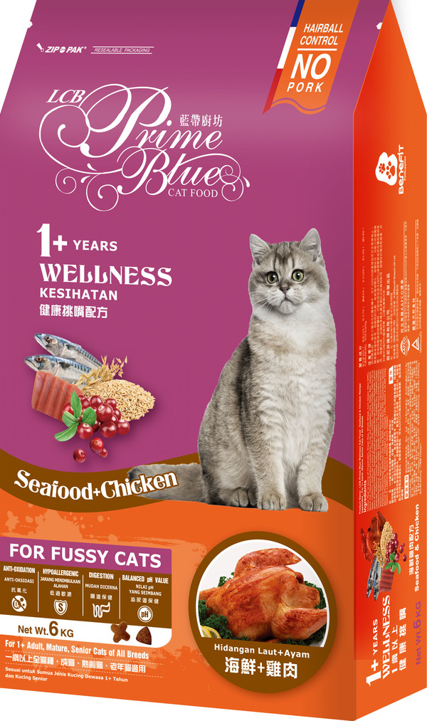 藍帶廚坊(貓)健康挑嘴貓海鮮雞肉1.2kg 4712013805904