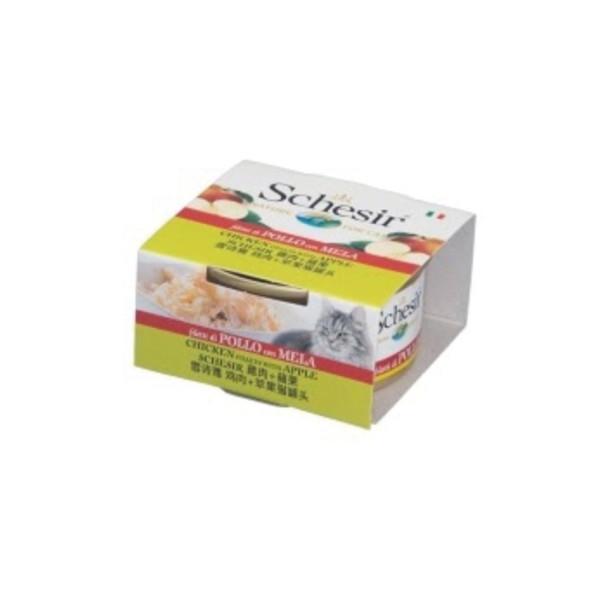 8005852613523Schesir貓罐頭-雞肉+蘋果75g/罐