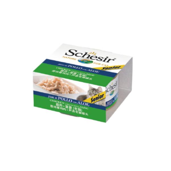 8005852941053Schesir(老貓)-雞肉+蘆薈85g/罐