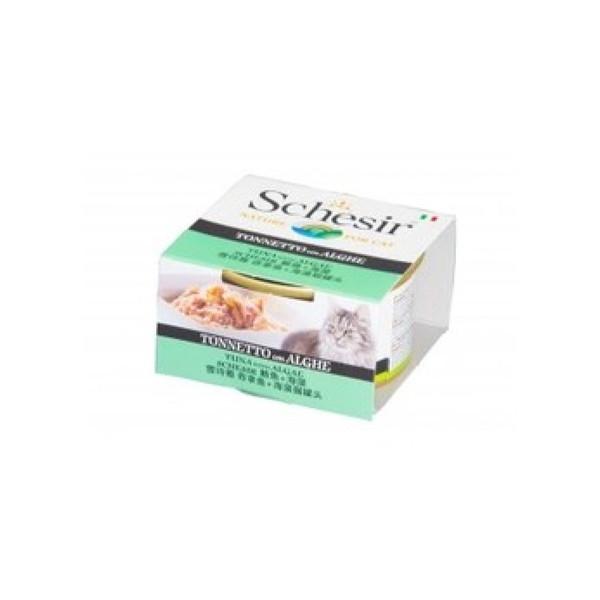 8005852750082Schesir貓罐頭-鮪魚+海藻85g/罐