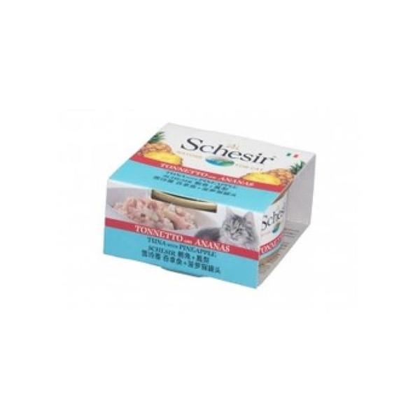 8005852613530 Schesir貓罐頭-鮪魚+鳳梨75g/罐