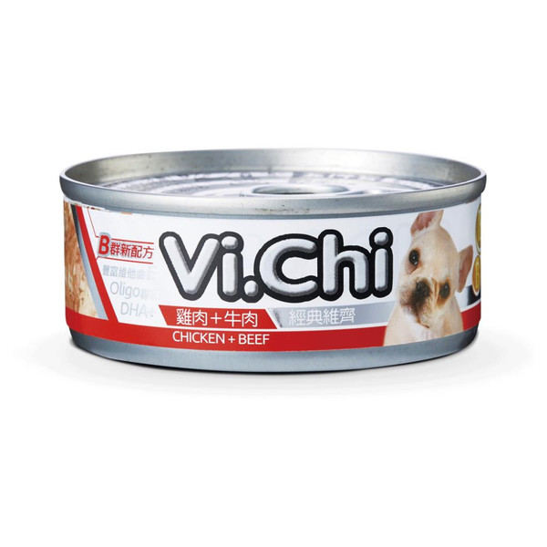 4711942135205經典維齊犬罐-雞肉+牛肉80G-罐(24/箱)