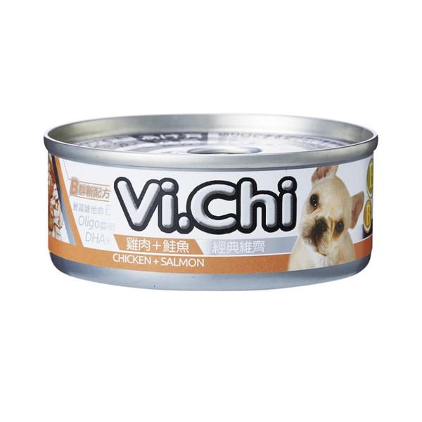 4710901291969經典維齊犬罐-雞肉+鮭魚80G-罐(24/箱)
