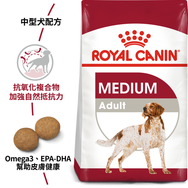 【法國皇家 ROYAL CANIN】M25/MA中型成犬10KG/15KG