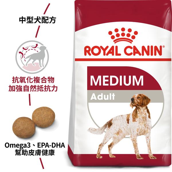 【法國皇家 ROYAL CANIN】M25/MA中型成犬 4KG/10KG/15KG