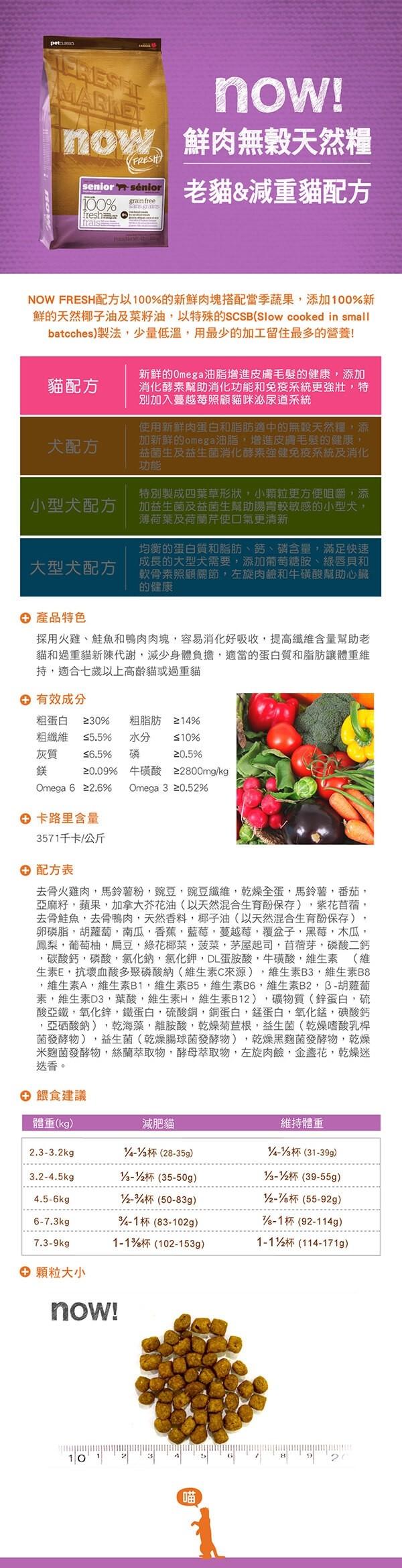 815260003643 Now(貓)鮮肉無穀老貓配方4lb圖片來源:東購