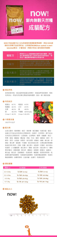 815260003544Now(貓)鮮肉無穀成貓配方4lb圖片來源:東購