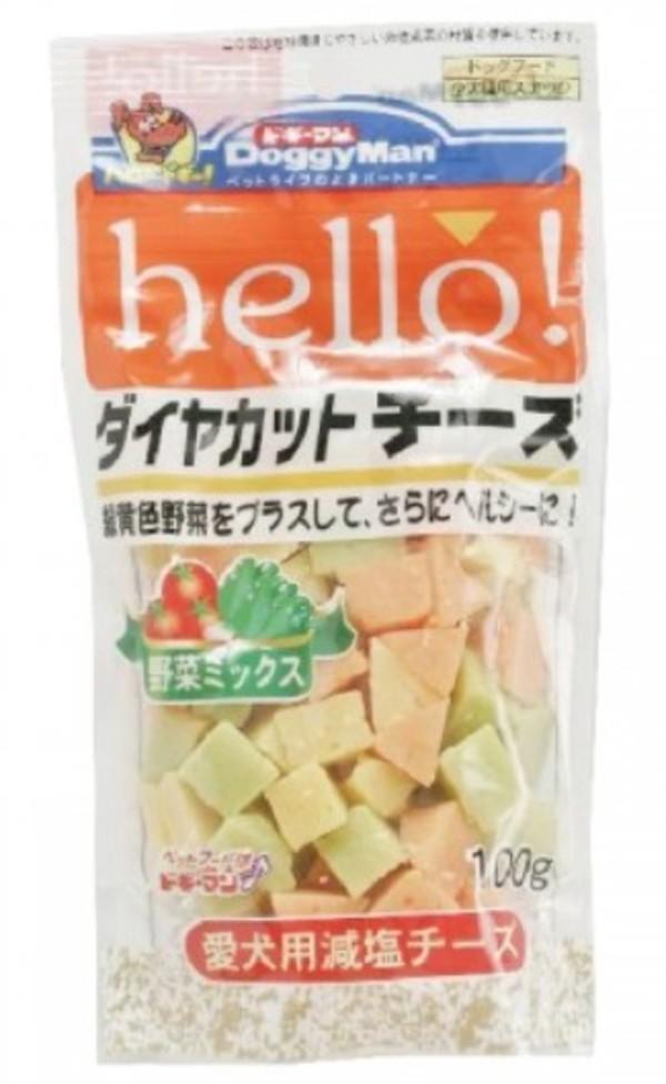 4976555814699DM犬用Hello角切野菜起司塊100g