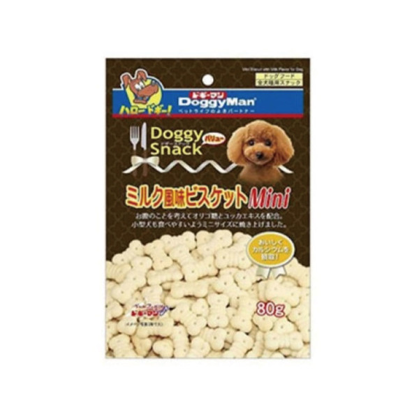 【DoggyMan】犬用迷你牛奶骨型消臭餅乾80g