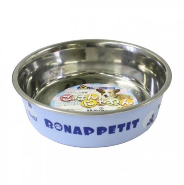 【DoggyMan】犬用蛋糕彩繪橡膠止滑碗-粉藍色 S