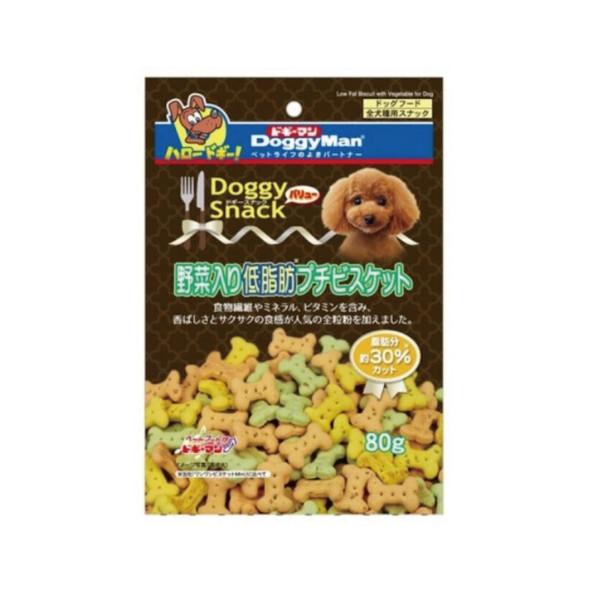 【DoggyMan】犬用低脂野菜迷你餅乾80g