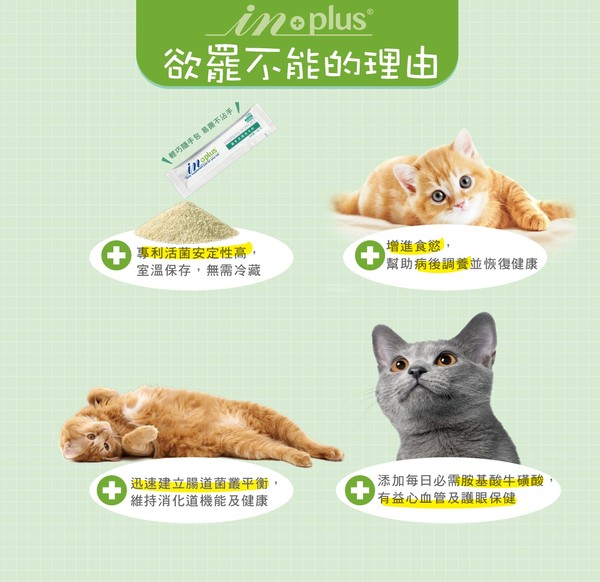 IN-Plus PA-5051貓用益生菌plus牛磺酸30入(1g/包)  4710409496361