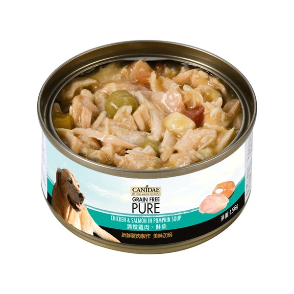 Canidae無穀犬罐-清燉雞肉.鮭魚70g  640461062492