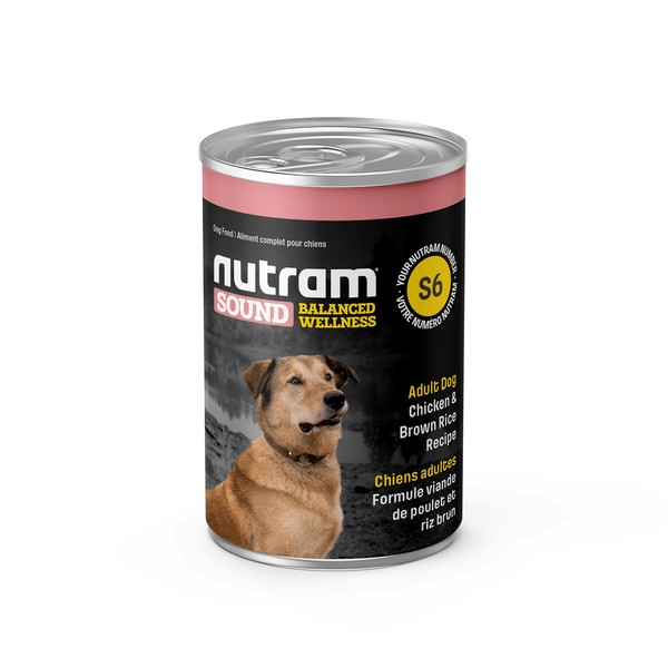 【紐頓nutram】S6成犬雞肉南瓜主食湯罐369G