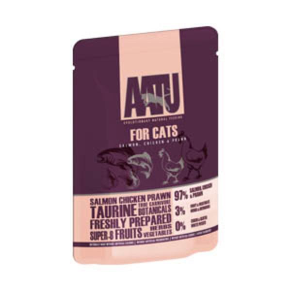 超級8 皇室貓主食-無穀97%鮮肉餐包  鮭魚+雞肉+蝦 85g 5060189112821