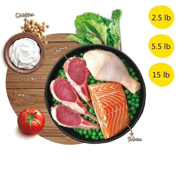 優格(犬)零穀全齡犬羊肉鮭魚 5.5lb\\15lb