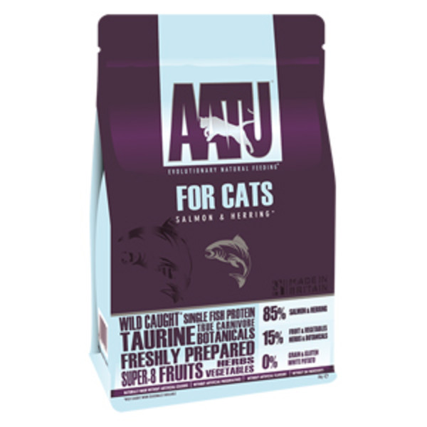 【AATU 超級8】皇室85%鮭魚+鯡魚低敏無穀挑嘴全齡貓糧200g/1kg/3kg