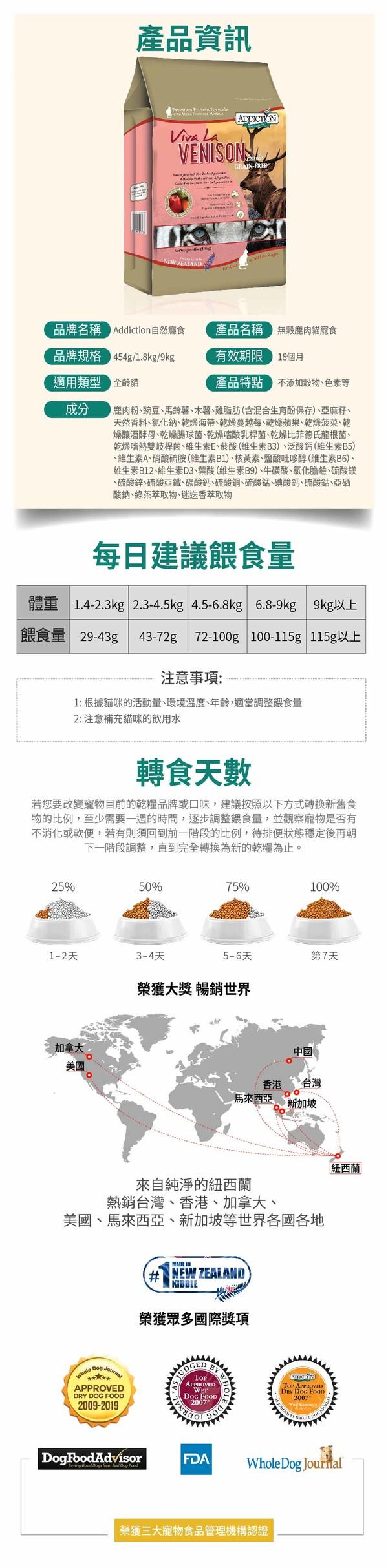 8885004070776ADD(貓)無穀鹿肉1.8kg