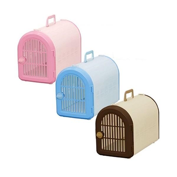 【日本IRIS】犬貓外出提籠(附背帶) (青/桃/茶)