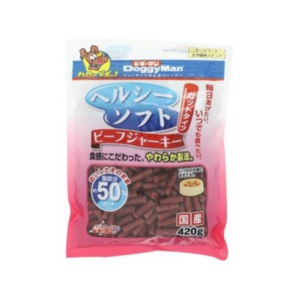 4976555819557DM犬用健康低脂軟牛肉條420g