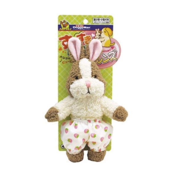 4976555857108DM犬用友達毛絨啾啾玩具-小兔兔