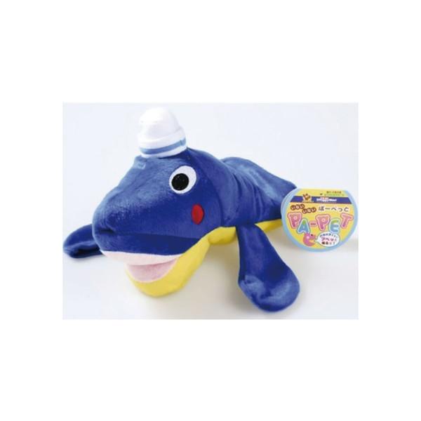 4976555851595DoggyMan犬用躲貓貓可愛動物手偶套-鯨魚