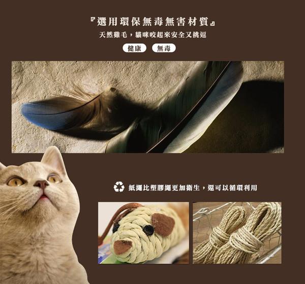 4976555843774 CM自然風逗貓玩具-小雞