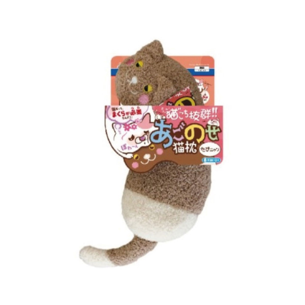 1061068600Doggyman貓用溫馨舒適造型枕-巧克力喵