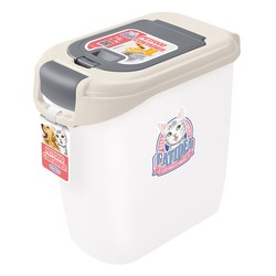 CATIDEA貓樂適CF102-5公斤雙開飼料桶(乳白) 856211005934