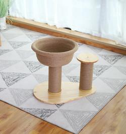 2302080102338愛玩耍貓爬架頂端坐盆款(咖啡色)40*52*15*40cm