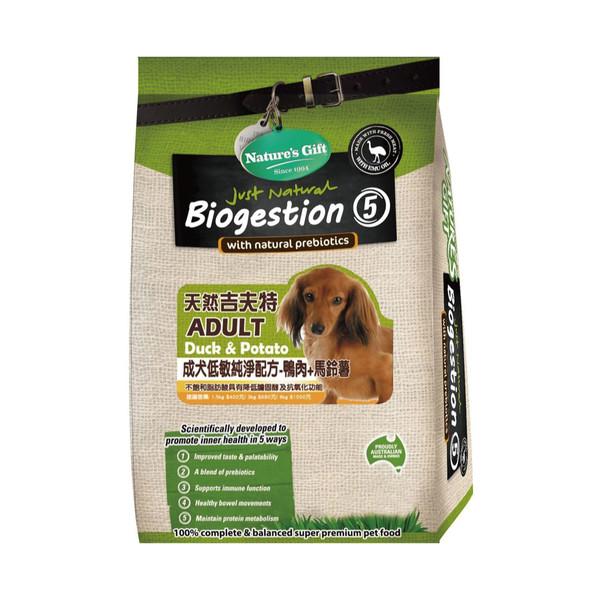 天然吉夫特(犬)成犬 鴨肉+馬鈴薯1.5kg 9338362001061