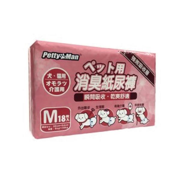【PettyMan】強效吸收減臭紙尿褲M(18枚入)