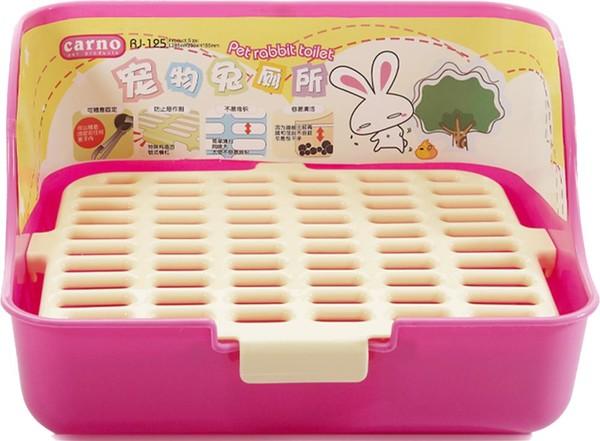 CARNO方型加大兔便盆-黃色 4711481501783