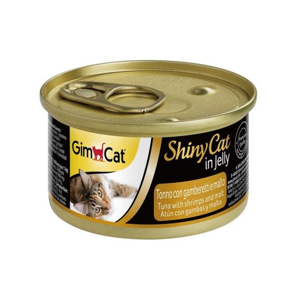 竣寶化毛貓罐鮪魚加鮮蝦加麥芽70g-罐(24/箱) 4002064413259