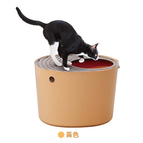 4967576242899IRIS-PUNT-530桶式貓便盆(茶)242899