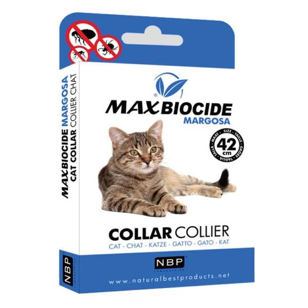 【Max Biocide 西班牙NBP】新型苦楝精油防蚤頸圈(貓)42CM