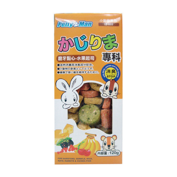 4712832066340PTM小動物磨牙點心餅-水果起司120g